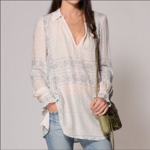 Free People Changing Times floral tunic size small